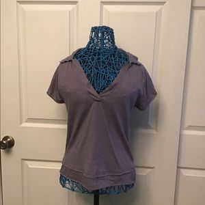 V-Neck Collared Tee